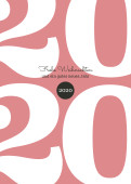 Weihnachtskarte Typoart 2020 altrosa