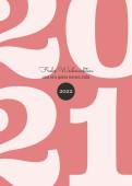 Weihnachtskarte Typoart 2021 altrosa