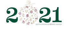 Weihnachtskarte Weihnachtskugel 2021 grün