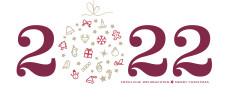 Weihnachtskarte Weihnachtskugel 2022 brombeere