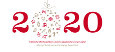 Weihnachtskarte Weihnachtskugel 2020 rot