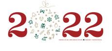 Weihnachtskarte Weihnachtskugel 2022 rot