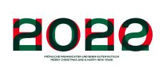 Weihnachtskarte HOHO 2021 Rot-Grün
