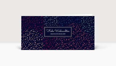 Weihnachtskarte Festliches Feuerwerk dunkelblau