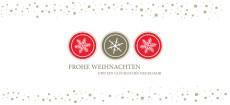 Weihnachtskarte Schneeflocken Icons Rot