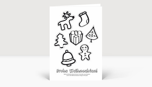 Weihnachtskarte Aktionskarte: Weihnachtsbaumschmuck zum selber basteln