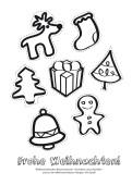 Weihnachtskarte Aktionskarte Baumschmuck