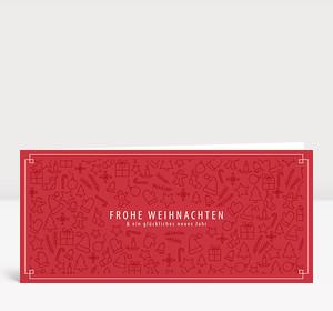 Weihnachtskarte Weihnachts-Icons Rot