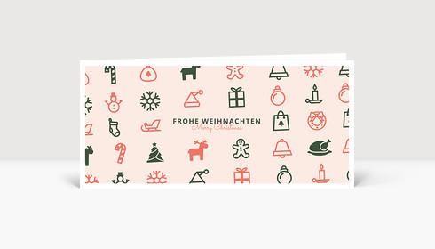 Weihnachtskarte Christmas Pop Rosé
