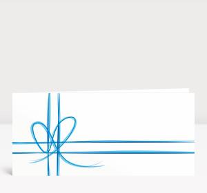 Weihnachtskarte Geschenk-Karte Blau