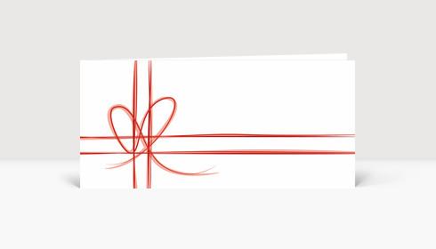 Weihnachtskarte Geschenk-Karte Rot