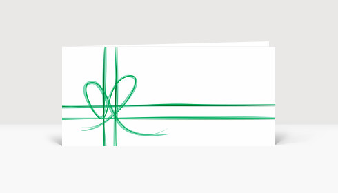 Weihnachtskarte Geschenk-Karte Grün