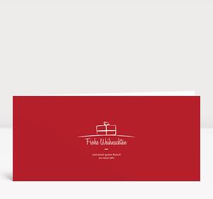 Weihnachtskarte Geschenk-Paket Rot