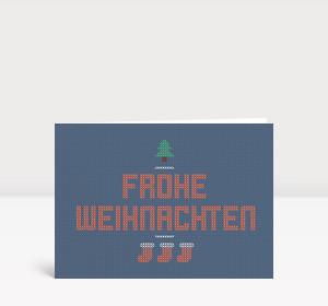 Weihnachtskarte Weihnachtspulli