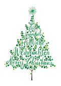 Weihnachtskarte Weihnachtsbaum Grün
