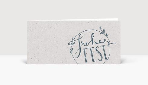 Weihnachtskarte Frohes Fest - Handlettering