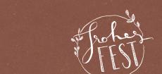 Weihnachtskarte Frohes Fest - Handlettering Braun