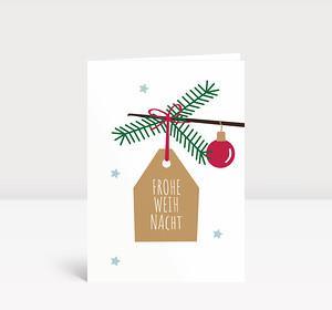 Weihnachtskarte Anhänger Frohe Weihnacht
