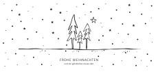 Weihnachtskarte Tannenwald Scribble