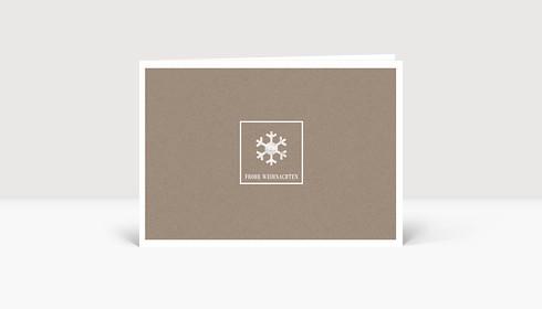 Weihnachtskarte Schneeflöckchen