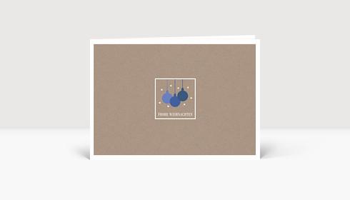Weihnachtskarte Kleine Weihnachtskugeln Blau