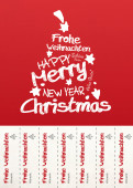 Weihnachtskarte Abrisskarte rot