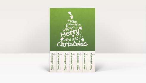weihnachtskarte abrisskarte weihnachtsgr e f r jeden kollegen auf gr n dk288. Black Bedroom Furniture Sets. Home Design Ideas