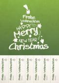 Weihnachtskarte Abrisskarte grün