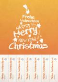 Weihnachtskarte Abrisskarte orange