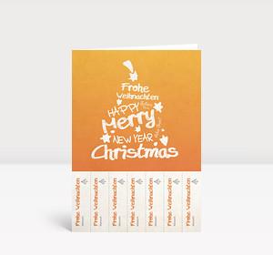 Weihnachtsgrüße Per E Mail An Kollegen.Weihnachtskarte Abrisskarte Weihnachtsgrüße Für Jeden Kollegen Auf