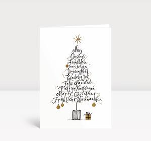 Weihnachtskarte Weihnachtsgrußbaum