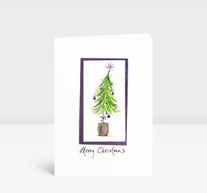 Weihnachtskarte Weihnachtsbaum gezeichnet