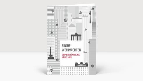 Weihnachtskarte Weihnachten in Berlin