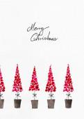 Weihnachtskarte Kleine Bäumchen