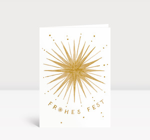 Weihnachtskarte Goldener Weihnachtsstern