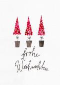 Weihnachtskarte Drei kleine Bäumchen