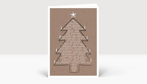 Weihnachtskarte Weihnachtsbaum International Eco