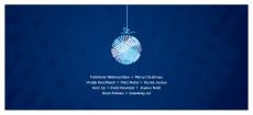 Weihnachtskarte Kleine Weihnachtskugel Blau