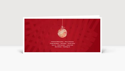 Weihnachtskarte Kleine Weihnachtskugel Rot