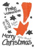 Weihnachtskarte Graffiti Orange