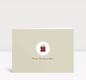 Weihnachtskarte Kleines Päckchen