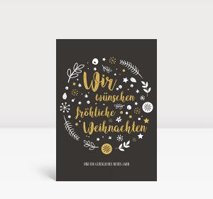 Weihnachtskarte Weihnachtswunschkugel A6