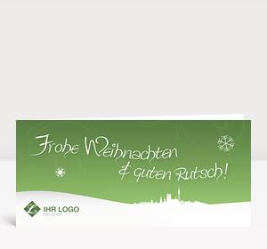 Weihnachtskarte München Landschaft grün