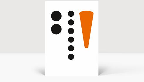 Weihnachtskarte Karotte & Kohle, Karte Groß Hoch