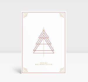 weihnachtskarten mit weihnachtsbaum postkarte gro hoch. Black Bedroom Furniture Sets. Home Design Ideas