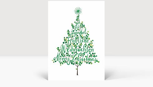 Weihnachtskarte Weihnachtsbaum Grün, Karte Groß Hoch