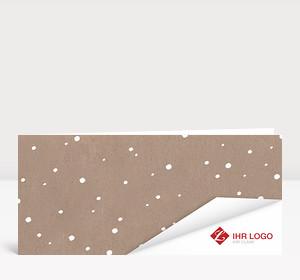 Weihnachtskarte Schneesturm auf Karton