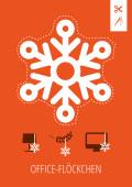 Weihnachtskarte Office-Flöckchen Orange