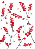 Weihnachtskarte Weihnachtsbeeren Rot