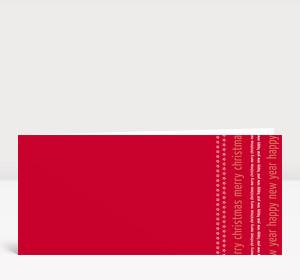 Weihnachtskarte Weihnachten & Neujahr Typo rot
